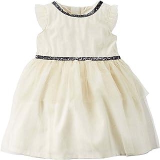Infant & Toddler Girls Ivory Glittery Sparkle Holiday...