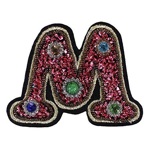 26 insignias de alfabeto inglés bordadas, parches para planchar sobre ropa, zapatos, bolsas, decoración, bricolaje, 2 piezas M