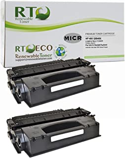 Renewable Toner Compatible MICR Toner Cartridge High Yield Replacement for HP 49X HP Q5949X for use in Laserjet 1320 3390 3392 (2-Pack)