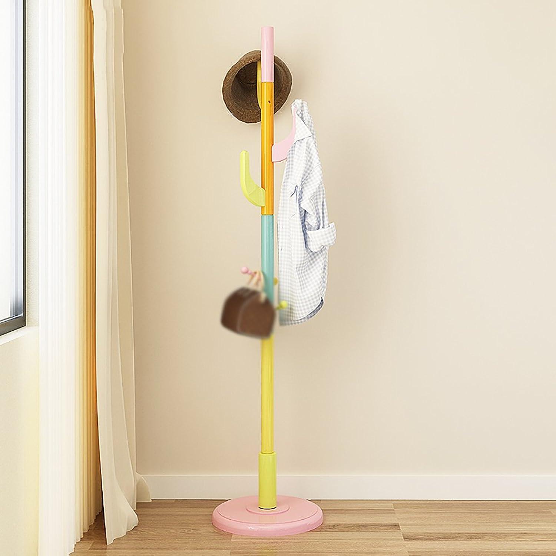 LQQFFCreative Simplicity Coat Rack Hanger Solid Wood Bedroom Hanger Simple Creative Clothes Rack Rack (color   3 )