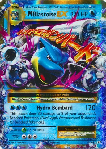 Pokemon - M/Mega-Blastoise-EX (22/108) - XY Evolutions - Holo Rare Card