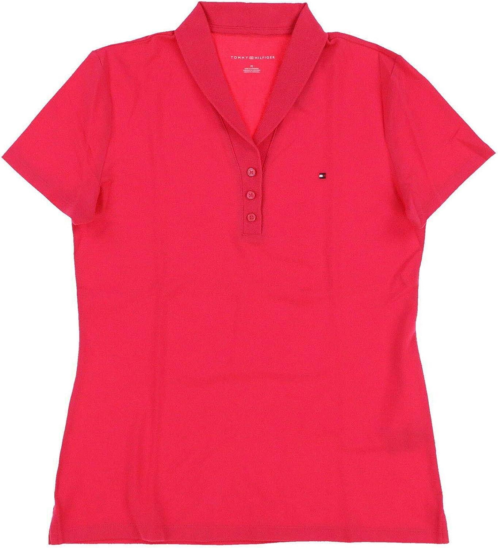 Tommy Hilfiger Womens Stretch Mesh Polo Shirt