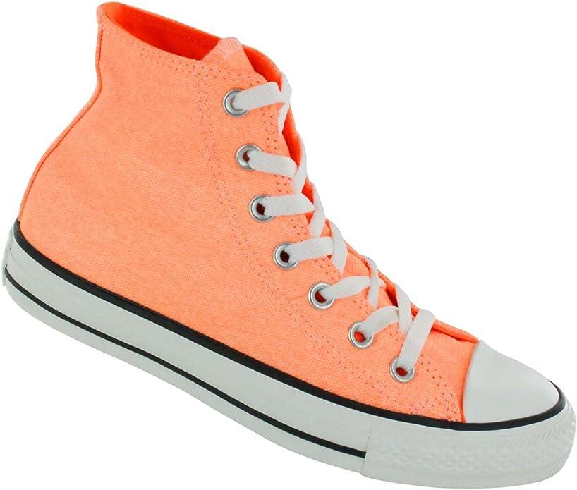 Converse Trainers Uomo Donna All Star Ct Hi Neon Orange 5 US - 5 ...