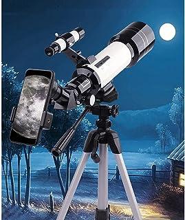 ZIHRA Astronomical Refractor Telescope, Aperture Telescope with Tripod, 70mm Aperture AZ Mount Telescope for Kids Portable...