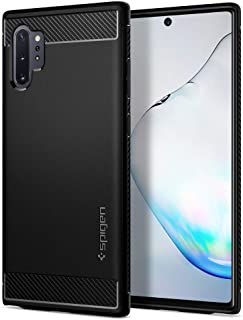 Galaxy Note 10 Plus, Spigen Case, TPU Liquid, Rugged Armor Designed Cover, Matte Black
