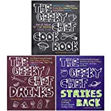 The Geeky Chef Series 3 Books Collection Set By Cassandra Reeder (The Geeky Chef Cookbook, The Geeky Chef Drinks, The Geeky Chef Strikes Back)