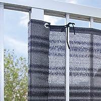 ベランダの目隠しシート グレーボーダー ベランダ 目隠しシート 日よけシェード 洗濯物目隠し 80×180cm