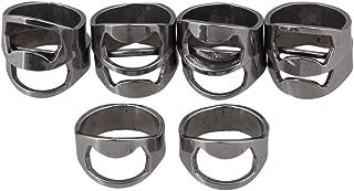 BQLZR 64452 Stainless Steel Finger Ring Bottle Opener Lightweight Pack of 10