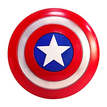 Captain America Shield Kids by NUTRIUPS Captain America Costume 12 inches Plastic Shield Kids Superhero Dress up Captain America Shield Prop Costumes Suit for 3-10 Year Kids Boy Role Play