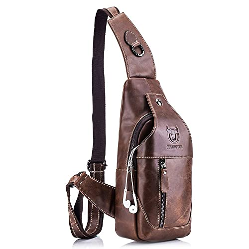 4f3d395999db QUORA Men Genuine Leather Business Casual Brown Black Shoulder Crossbody Bag  as Christmas Gift
