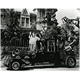 The Munsters 8 X 10 Cast Photo Herman, Lily, Grandpa, Eddie & Marilyn Munster in/on Car Pose 2 kn