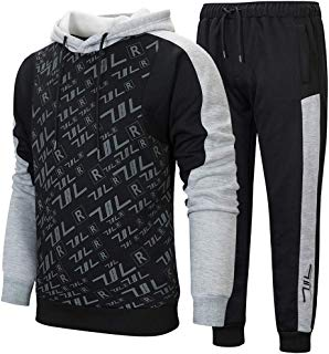Men's Sports Casual Tracksuit Set Hooded Long Sleeve Running Jogging Sweat Suits
