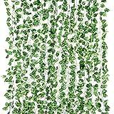 Yizhet Plantas Hiedra Artificial 12 Piezas 2m Plantas Artificial Hojas Guirnalda de Hiedra Artificial Hiedra Artificial Hoja Guirnalda Plantas Vid Colgante Guirnalda de Boda Hiedra Inglesa