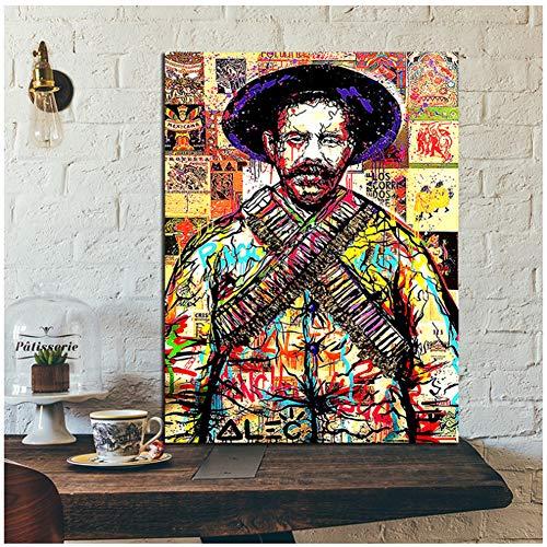 Graffiti Art Michael Jackson Hoed Poster ALEC Schilderijen op Canvas Moderne Decoratieve Wandfoto's Home Decoratie -50x70cm Geen Frame