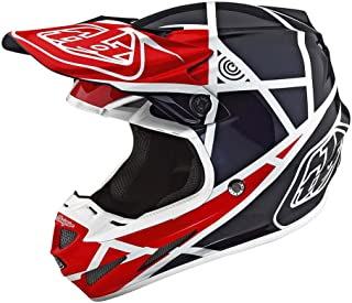 Troy Lee Designs Adult Composite SE4 Metric   Offroad   Motocross Helmet (Small, Red/Navy)