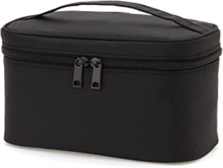 MUJI Nylon Nylon Pouch with Handle Cosmetic Organizer Black New 12.5x20.5x10.5cm