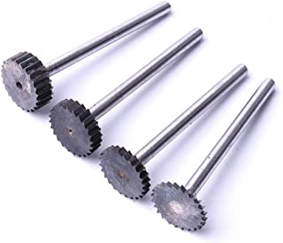 Atoplee 4pcs Tungsten Steel T Shape Slot Milling Cutter 1/2/3/4mm for Metal Plastic Wood Carving