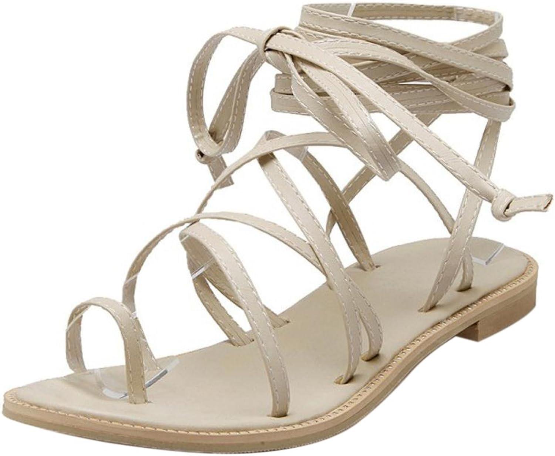 TAOFFEN Women's Cross Strap Sandals shoes