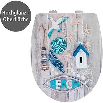 WENKO Premium WC-Sitz Rope Relief Thermoplast Toilettensitz Klobrille Klodeckel