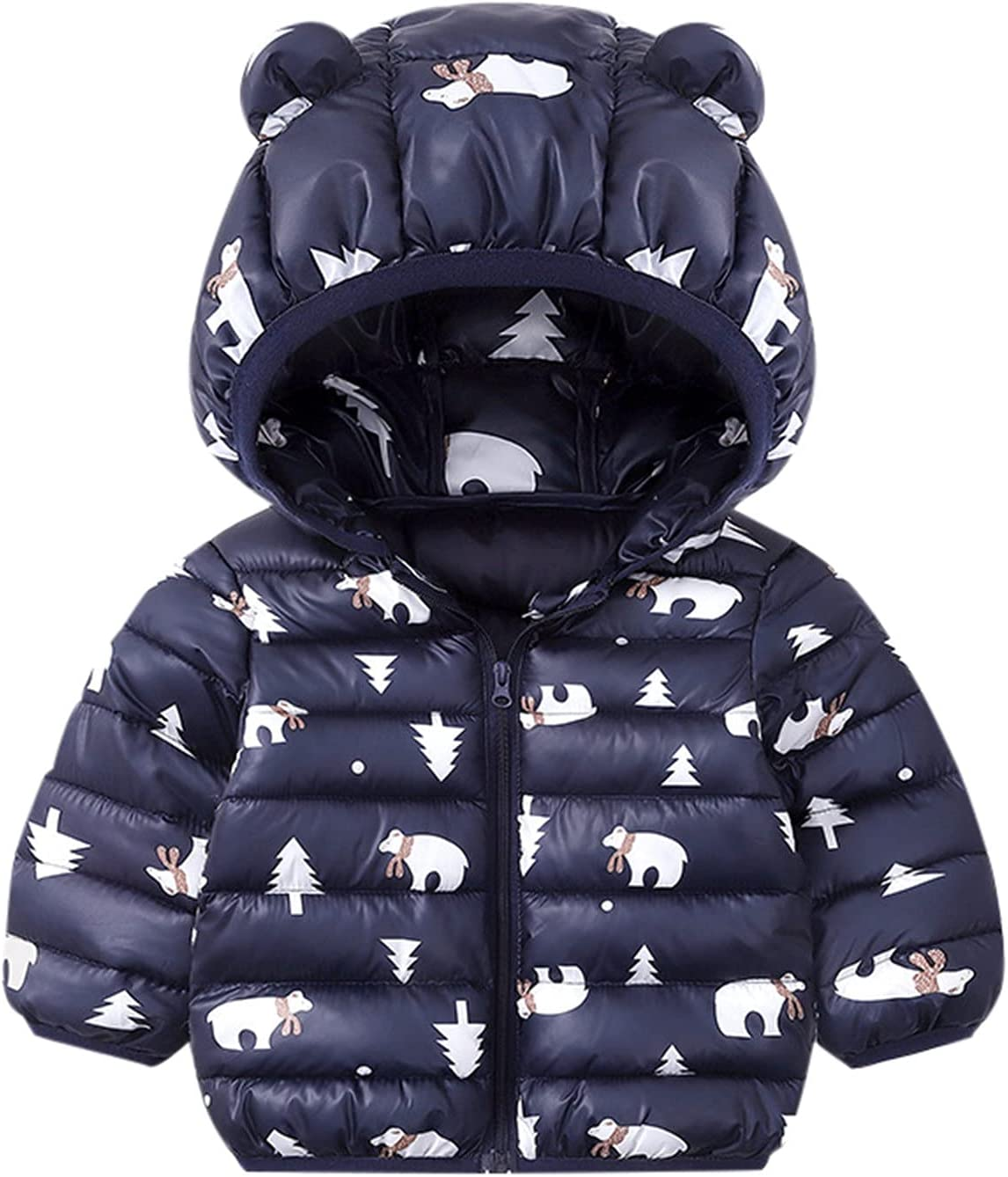 XUHUA Baby Boys Girls Winter Down Cute Limited time cheap sale Ear with Pr Bear Cheap super special price Jacket