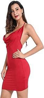 Women Backless-Nightclub Dress Assless Low-Cut