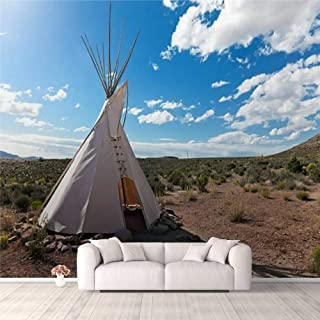 Modern 3D PVC Design Removable Wallpaper for Bedroom Living Room Teepee in american prairie Wallpaper Stick and Peel Wall ...