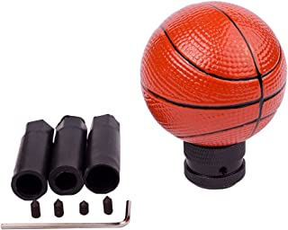AZQKJ Cool Basketball Shape Gear Stick Shift Shifter Knob Lever Cover Universal Fit For Most Cars Without Lock Button