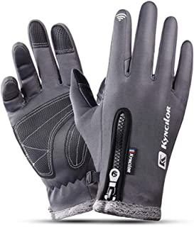 Men Women Waterproof Fleece Ski Warm Gloves Windproof Outdoor Winter Gloves Cycling Touch Screen Gloves Anti Slip Mittens Gift Men's Gloves