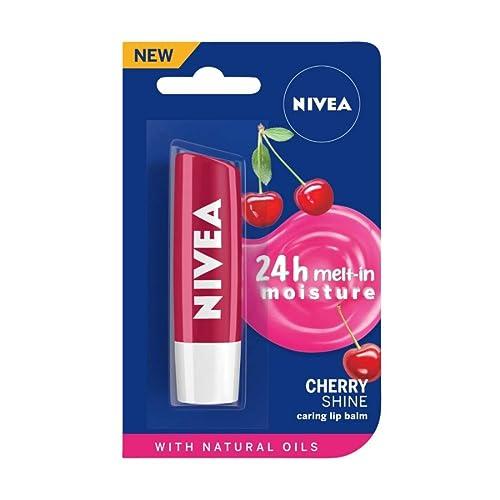 NIVEA Lip Balm, Fruity Cherry Shine, 4.8g