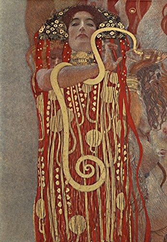 Spiffing Prints Gustav Klimt - Hku Klimt Hygieia - Extra Large - Matte - Black Frame