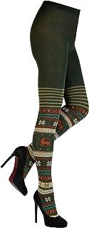 CRÖNERT Damen Strumpfhose Strickstrumpfhose Design Hirsche 72230