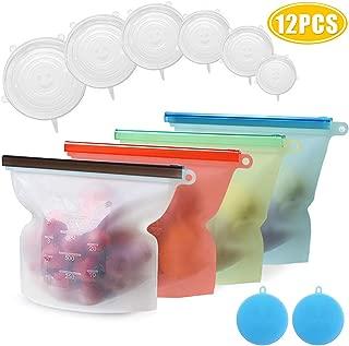 Mlife Reutilizables bolsas de almacenamiento de alimentos de silicona bolsas de conservación Conjunto de recipientes de cocina