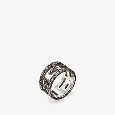 Gucci G Motif Ring in Aged Sterling Silver (Silver) Ring