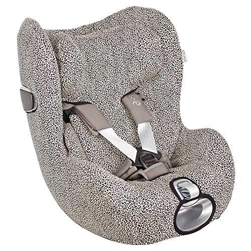 UKJE Fundas para Sillas de Algodón Oeko-Tex para Silla de Coche Cybex Sirona Z Funda Silla Garantiza la Comodidad de la Piel del Bebé y Ayuda a no Sudar Leopardo
