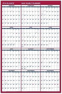 "$28 Get AT-A-GLANCE 2020 Wall Calendar, 36"" x 24"", Large, Erasable, Dry Erase, Reversible, Vertical/Horizontal (PM26B28)"