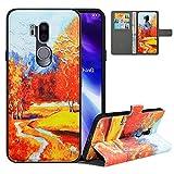 LFDZ Handyhülle für LG G7 ThinQ Hülle,Premium 2 in 1 Abnehmbare PU Ledertasche für G7 ThinQ Hülle,RFID-Blocker Flip Hülle Brieftasche Etui Schutzhülle für LG G7 Fit/LG G7 ONE/G7+ThinQ Hülle,Autumn