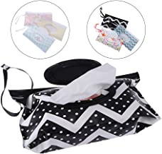 LIGONG 6 PCS Reusable Wet Wipe Pouch Clean Wipes Carrying Case Eco-Friendly Wet Wipes Bag Cosmetic Pouch