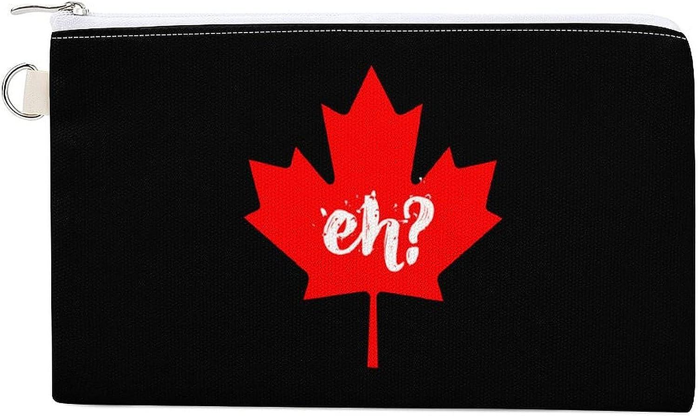Eh Canada Maple Women's Canvas Coin Purse Change Pouch Zip Wallet Bag