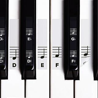 Piano Stickers for White & Black Keys w/Complete Gra
