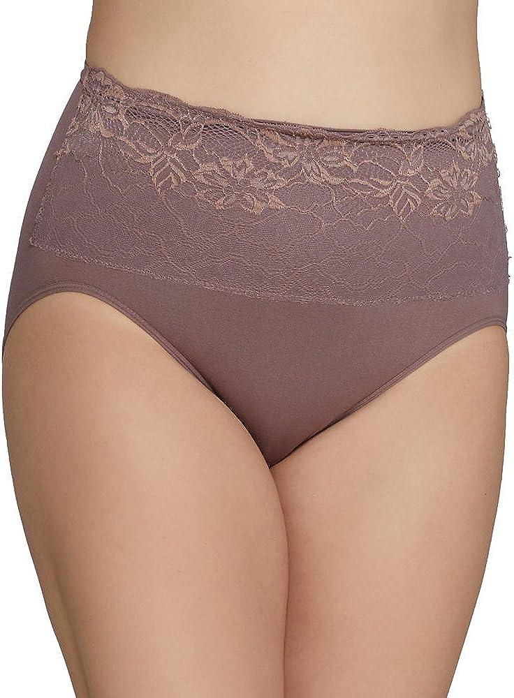 Rhonda Shear Taupe Lace Overlay Brief Panty Panties New