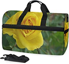 Gym Bag A Yellow Rose Duffle Bag Large Sport Travel Bags for Men Women