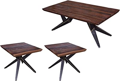 Amazon.com: Benjara Benzara BM190132 Rectangular Wooden ...