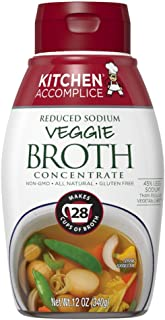 Kitchen Accomplice Reduced Sodium Vegetable Style Broth Concentrate, 12 oz