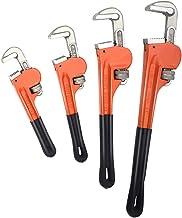 """مجموعة مفتاح أنابيب Goplus 4 قطع، مفتاح السباكة المعالجة بالحرارة ث / مقبض ناعم، فك قابل للتعديل، 8"""" 10"""" 14"""" 18"""" أدوات يدو..."""