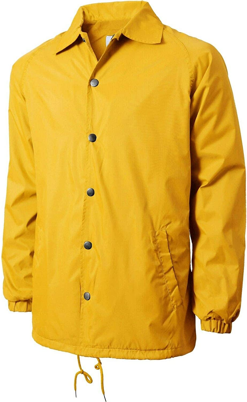 Popular brand Men Yellow Coach Jacket Windbreaker Colorado Springs Mall Ligh Nylon Sportswear Active