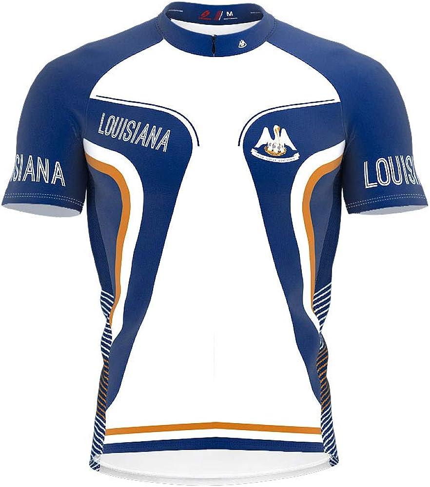 ScudoPro Free Shipping New Louisiana Bike Short Sleeve Jersey for Cycling Popular standard Men