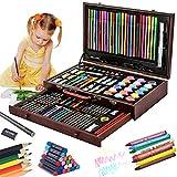 Kit de Dessin 123 Pièces, Malette Dessin Inclus Pastel, Aquarelle, Peinture Acryliques, Marqueur, Métallique Crayons de Couleur et Materiel Dessin, Idéal Cadeaux pour Adulte Enfant