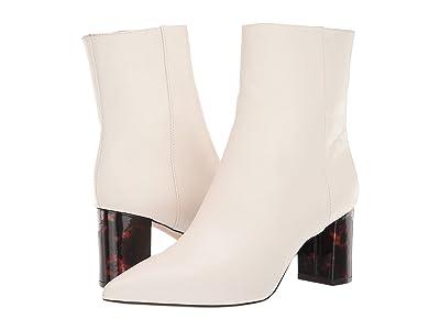 J.Crew Soft Basic Leather Pointy Toe Maya Boot (Ivory) Women