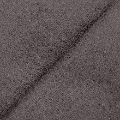 DESHOME Alessia - Tessuto al metro scamosciato in Microfibra Idrorepellente Stoffa per tappezzeria divani, cuscini, complementi d arredo (Grigio ferro, 1 metro)