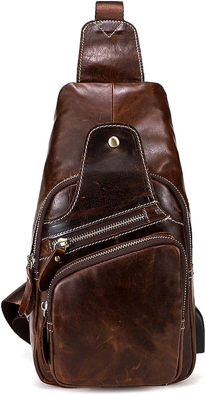 Sucastle Herren Leder Messenger Bag Umhängetasche Männer LederArbeitstaschen Aktentasche Vintage Schultertasche 17x7x31CM, 2 B07F3W8XFP